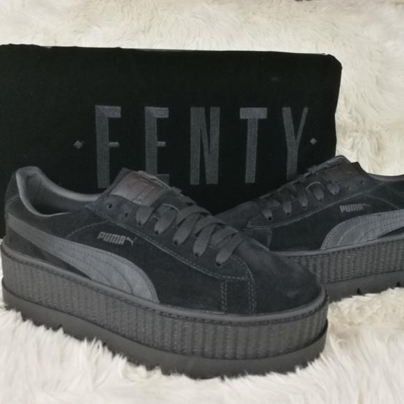 FENTY PUMA Rihanna Suede Cleated Creepers Size 8.5 a7e5415de